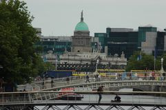 Architecture in Dublin, Ireland. Dublin is the capital and largest city of Ireland. Dublin is in the province of Leinster on Ireland, east coast, at the mouth of Stock Images