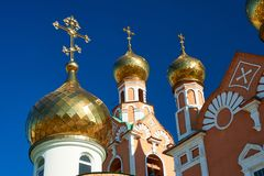 Eastern Orthodox church. The architecture of Eastern Orthodox church buildings constitutes a distinct, recognizable family of styles among church architectures stock image