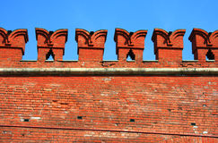 Architecture elements of Kremlin Wall in Moscow Royalty Free Stock Images