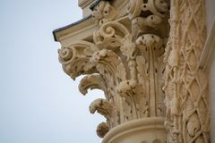 Architecture elements of Peyrou water castle, Montpellier, Franc. E, beautiful art object Stock Image
