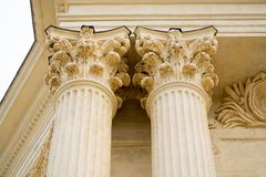 Architecture elements of Peyrou water castle, Montpellier, Franc. E, beautiful art object Stock Photography