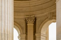 Architecture elements of Peyrou water castle, Montpellier, Franc. E, beautiful art object Royalty Free Stock Photography