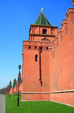 Architecture elements and tower of Kremlin Wall in Stock Photos