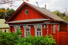 Architecture en bois de Kostroma, Russie Photo stock