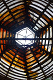 Architecture en bois de texture de fond, sous le plus haut dôme Images stock