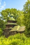 Architecture en bois, l'église d'Élijah le prophète Images libres de droits