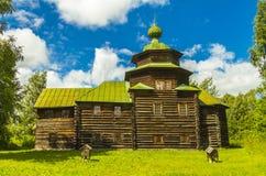 Architecture en bois, l'église d'Élijah le prophète Photo libre de droits