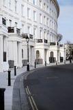 Architecture en croissant de régence de Brighton d'appartements image libre de droits