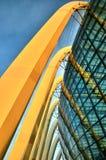 Architecture en verre de dôme, jardins par la baie Images stock