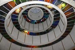 Architecture en verre souillé photographie stock libre de droits
