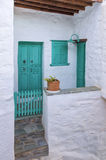 Architecture in Ermpoupolis, Syros island, Cyclades, Greece Royalty Free Stock Photo