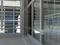 Architecture : escalier et fenêtres Images libres de droits