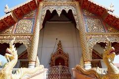 Architecture et décoration le temple de Wat Chiang Man en Chiang Mai Photographie stock libre de droits