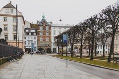 Architecture et détails des rues du CEN de ville du ` s de Copenhague photo stock