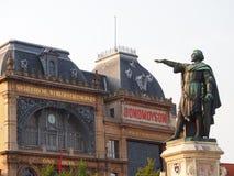 Architecture et statue de Gand Photos libres de droits