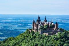 Architecture européenne allemande De antique de château de Hohenzollern de Burg photo stock