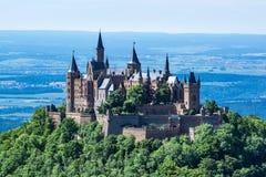 Architecture européenne allemande De antique de château de Hohenzollern de Burg image libre de droits