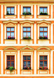Architecture of Europe. Windows of an old house Royalty Free Stock Photo