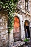 Architecture européenne historique de village Images libres de droits