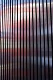 Architecture extérieure de bande en métal de voie de garage Images libres de droits