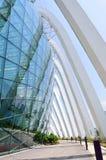 Architecture extérieure de dôme de fleur Photos stock
