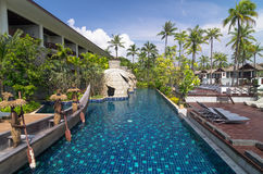 Architecture exterior with swimming pool of the SENTIDO Graceland Khao Lak Stock Images