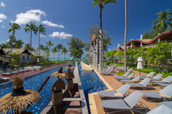 Architecture exterior with swimming pool of the SENTIDO Graceland Khao Lak Resort & Spa Stock Photography