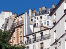 Architecture and façade in Montmartre area Royalty Free Stock Photos