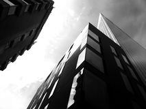 Architecture facade in black and white Stock Photography