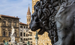 Architecture. A famous square in the city of Florence Stock Photo