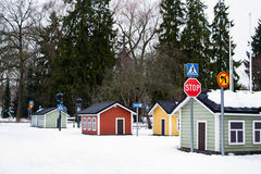 Architecture finlandaise typique photographie stock
