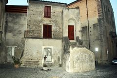 Fiumefreddo del bruzio italy. The architecture of fiumefreddo del bruzio in south italy royalty free stock image