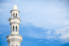 Architecture of floating Mosque in Kuala Terengganu, Malaysia Royalty Free Stock Photos