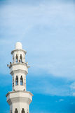 Architecture of floating Mosque in Kuala Terengganu, Malaysia Royalty Free Stock Photo