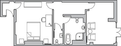 Architecture floor plan royalty free illustration