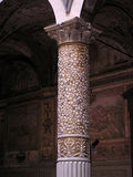 Architecture in florence details. Example of italian historic architecture Florence detail of a baroque column royalty free stock photos