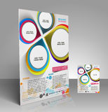 Architecture Flyer. Mock up OF Architecture & Interior Decorator Flyer Template Stock Image