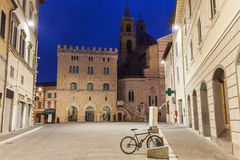 Architecture of Foligno at dawn Stock Images