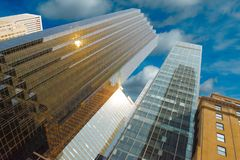 Architecture, fragments of tall buildings royalty free stock photography