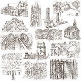 Architecture - Freehand sketching, pack Stock Photos