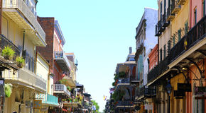 Architecture of the French Quarter in New Orleans Royalty Free Stock Image