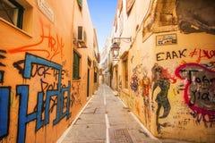 9 9 2016 - Architecture générique dans la vieille ville de Rethymno Image libre de droits