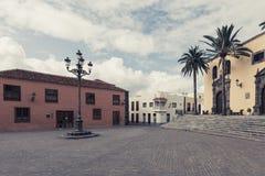 The architecture of Garachico village on Tenerife Island, Spain royalty free stock photos