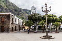 The architecture of Garachico village on Tenerife Island, Spain royalty free stock image