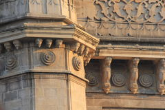 Architecture of Gateway of India, Mumbai. One of the side turret design details of Gateway of India, the monument situated in Mumbai. India. The Monument, made royalty free stock images