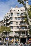 Architecture Gaudi La Pedrera of Barcelona Royalty Free Stock Image