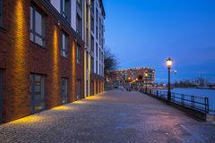 Architecture of Gdansk old town at dusk. Poland Stock Photo