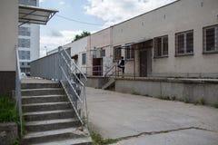 Architecture in Gdansk Zaspa. Royalty Free Stock Photo