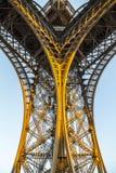 Architecture gentille de Tour Eiffel à Paris dans la soirée photographie stock libre de droits