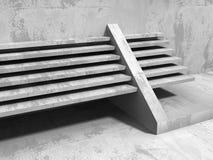 Architecture geometric minimalistic background. Urban concrete c. Onstruction. 3d render illustration Stock Photos